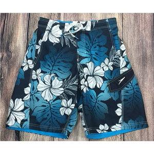Speedo Blue Floral Swim Trunks Board Shorts Small